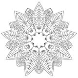 Adult coloring page. Stock Image