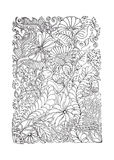 Adult coloring page spring design Stock Image