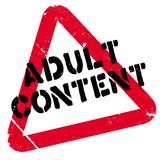 Adult Content rubber stamp Royalty Free Stock Images