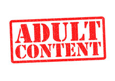 ADULT CONTENT Stock Image