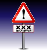 Adult content signboard Stock Images