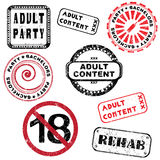 Adult content stamp series Stock Photos