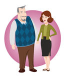 Adult couple. In their 50's Royalty Free Stock Photography