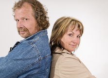adult couple contradictory Stock Photography