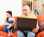 Adult couple in quarrel Royalty Free Stock Photo