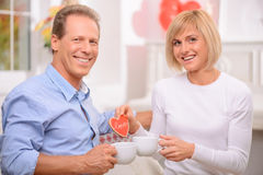 Adult couple resting at home Stock Photo