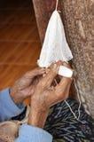 Adult Craft Crochet Hand Asia Stock Photo