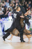 Adult Dance Couple Performs Youth Standard European Program on the WDSF Baltic Grand Prix-2106 Championship Royalty Free Stock Image