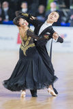 Adult Dance Couple Performs Youth Standard European Program on the WDSF Baltic Grand Prix-2106 Championship Stock Photos