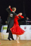 Adult Dance Couple Performs Youth Standard European Program on the WDSF Baltic Grand Prix-2106 Championship Royalty Free Stock Photos
