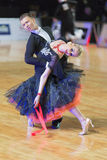 Adult Dance Couple Performs Youth Standard European Program on the WDSF Baltic Grand Prix-2106 Championship Royalty Free Stock Photography