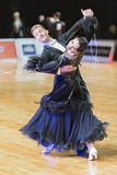 Adult Dance Couple Performs Youth Standard European Program on the WDSF Baltic Grand Prix-2106 Championship Royalty Free Stock Images