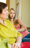 Adult daughter and mother after quarrel Royalty Free Stock Photos
