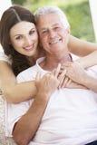 Adult DaughterHugging Father Stock Image