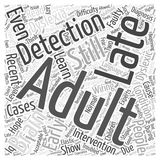 Adult Dyslexia Late Diagnosis Is There Still Hope word cloud concept  background Stock Image