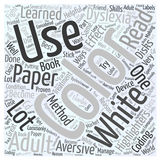 Adult Dyslexia Treatment Using Color word cloud concept vector background. Text Stock Illustration