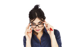 Looking Above Glasses Royalty Free Stock Image