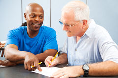 Adult Ed - Homework Help Stock Image