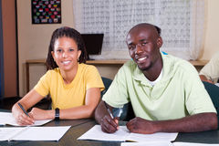 Adult education. A group of diverse adult students in the classroom participating in adult education stock image