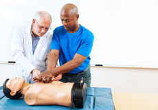 Adult Education - First Aid Training Stock Photos