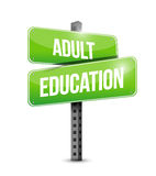 Adult education road sign illustration design Stock Image