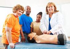 Adult Education Students Learning First Aid Royalty Free Stock Photo