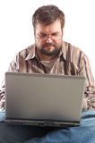 Adult fat businessman Stock Images