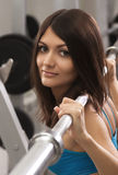 Adult female bodybuilding Stock Photography