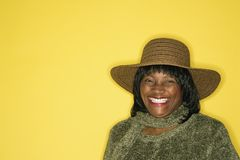 Adult female portrait smiling. Stock Images