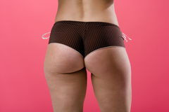 Adult female posing from behind wearing panties Stock Photography