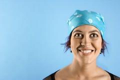 Adult female wearing bandana. Royalty Free Stock Image