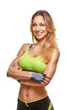 Adult fitness woman portrait Royalty Free Stock Photo