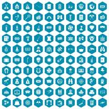 100 adult games icons sapphirine violet. 100 adult games icons set in sapphirine hexagon isolated vector illustration Vector Illustration