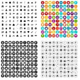 100 adult games icons set vector variant. 100 adult games icons set vector in 4 variant for any web design isolated on white Stock Images
