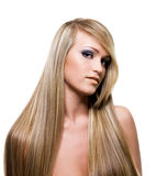 Adult Girl with beauty blond hairs Stock Image