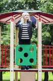 Adult girl on the playground Stock Photo
