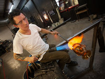 Adult Glass Artist Working Stock Image