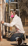 Adult Graffiti Artist Royalty Free Stock Photography