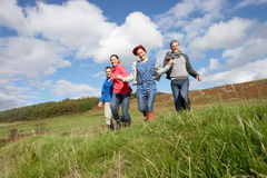 Adult group in countryside Stock Image