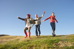Adult group in countryside Stock Photos