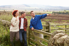 Adult group in countryside Royalty Free Stock Photography