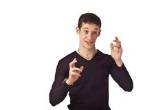 Adult guy on isolate background. Portrait adult guy on isolate background Stock Images
