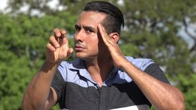 Adult Hispanic Male Mentalist. A handsome adult hispanic man stock video