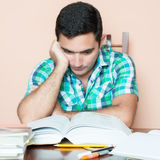 Adult hispanic man studying Stock Photo