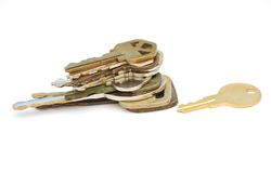 Adult keys in personal life. Idea of stacking with adult keys in personal life Royalty Free Stock Photography