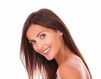 Adult latin woman smiling at camera Royalty Free Stock Photos