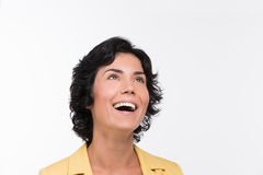 Adult laughing woman Stock Image