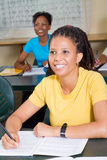 Adult learners. A classroom of adult african learners listening to the lesson Stock Image