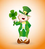 Adult Leprechaun Illustration Stock Image