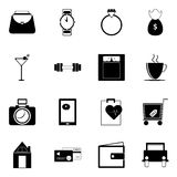 Adult lifestyle icons on white background Royalty Free Stock Photography